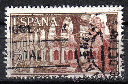 ESPAÑA 1977 7 P EDIFIL 2444. MONASTERIO SAN PEDRO DE CARDEÑA (Sellos - Temáticas - Religión)