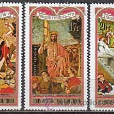 Sellos: BURUNDI, PASCUA FLORIDA 1981, PINTURAS DE DELLA FRANCESCA, BORRASSA,,,, AEREOS USADOS. Lote 13114574