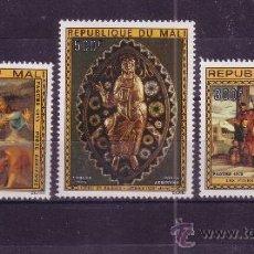 Sellos: MALI AEREO 236/38*** - AÑO 1975 - PASCUA - PINTURA RELIGIOSA. Lote 25293815