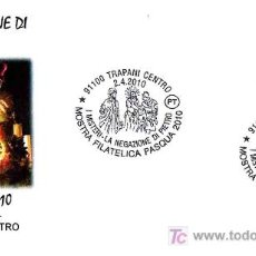 Timbres: MATASELLOS SEMANA SANTA 2010. LA NEGACION DE PEDRO. TRAPANI, ITALIA. Lote 28386610