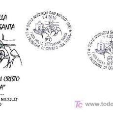 Timbres: MATASELLOS SEMANA SANTA 2010. LA PASION DE CRISTO. NUGHEDU SAN NICOLO, ITALIA, 2010. Lote 28386628