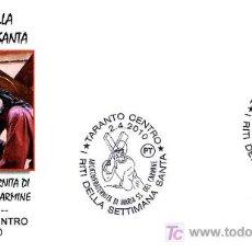 Timbres: MATASELLOS SEMANA SANTA 2010. TARANTO ITALIA. Lote 28386655