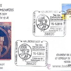 Sellos: ALEMANIA 2010. MATASELLO ESPECIAL. CRISTO EN UN TAPIZ DEL SIGLO XXII. EN LA CATEDRAL DE HALBERSTADT. Lote 19864003