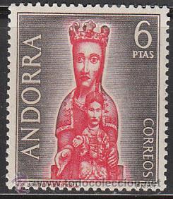 ANDORRA EDIFIL Nº 067, VIRGEN DE MERITXELL, NUEVO (VALOR CLAVE) (Sellos - Temáticas - Religión)