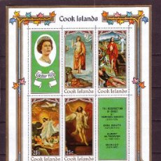 Sellos: COOK HB 6*** AÑO 1970 - PASCUA - PINTURA RELIGIOSA - OBRAS DE RAPHAEL - BOUTS - ALTDORFER Y MURILLO. Lote 23615087