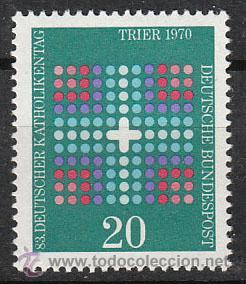 ALEMANIA IVERT Nº 495, JORNADAS DE LOS CATOLICOS ALEMANES, NUEVO (Sellos - Temáticas - Religión)