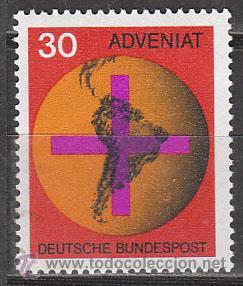 ALEMANIA IVERT 410, CAMPAÑA CATÓLICA PARA LAS IGLESIAS DE SUDAMERICA, NUEVO (Sellos - Temáticas - Religión)
