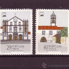 Sellos: MADEIRA 134/35*** - AÑO 1989 - MONUMENTOS DE MADEIRA - IGLESIAS. Lote 26833474