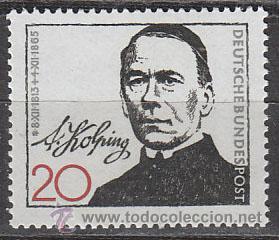 ALEMANIA IVERT 338, CENTENARIO DE ADOLF KOLPING, FUNDADOR DE LAS SOCIEDADES CATOLICAS, NUEVO (Sellos - Temáticas - Religión)