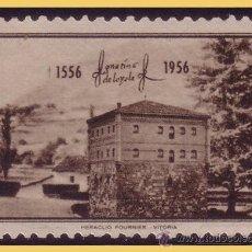 Sellos: 1956 IV CENTENARIO DE SAN IGNACIO DE LOYOLA, 2 * * LUJO. Lote 29029019