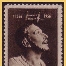Sellos: 1956 IV CENTENARIO DE SAN IGNACIO DE LOYOLA, 3 * * LUJO. Lote 29029039