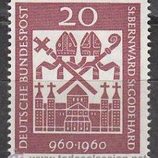 Sellos: ALEMANIA IVERT Nº 0209, MILENARIO DE LOS ARZOBISPOS SAN BERNARD Y SAN GODEHARD, NUEVO. Lote 29244497