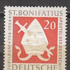 Sellos: ALEMANIA IVERT Nº 0075, 12 CENTº SAN BONIFACIO, EVANGELIZADOR DE GERMANIA, NUEVO SIN SEÑAL CHARNELA. Lote 32045643