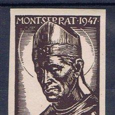Sellos: MONTSERRAT 1947 SAN BENEDICTUS OLIVA DE VILANOVA 25 CTS NUEVO***. Lote 32552228