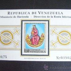 Francobolli: VENEZUELA Nº YVERT HB 18*** AÑO 1970. VIRGEN DE NUESTRA SEÑORA DE BELEN DE SAN MATEO. Lote 33324726