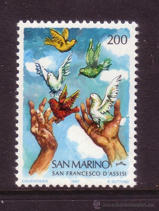 Sellos: SAN MARINO 1059*** - AÑO 1982 - 800º ANIVERSARIO DEL NACIMIENTO DE SAN FRANCISCO DE ASIS - Foto 1 - 116991476