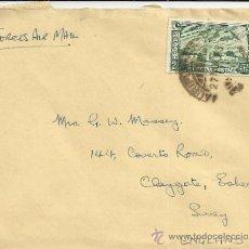 Sellos: PAKISTAN 1948 MAURIUK CC CON SELLO AEROPUERTO DE KARACHI. Lote 34912522