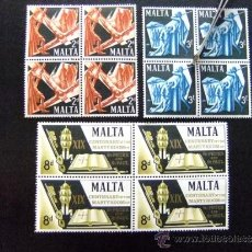 Sellos: MALTA YVERT Nº 355 - 357 ** SANT PEDRO Y SANT PABLO MARTIRES. Lote 35035729