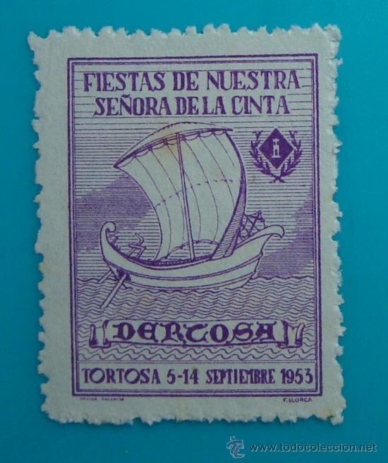FIESTAS DE NUESTRA SEÑORA DE LA CINTA, DERCOSA, TORTOSA 5 - 14 SEPTIEMBRE 1953, NUEVO SIN GOMA (Sellos - Temáticas - Religión)