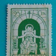 Sellos: VIÑETA, SABADELL, CASA REPOSO INFANTIL DEL NIÑO JESUS, 25 CTS, NUEVO SIN GOMA. Lote 37032722