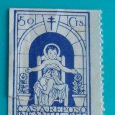 Sellos: VIÑETA, SABADELL, CASA REPOSO INFANTIL DEL NIÑO JESUS, 50 CTS, NUEVO SIN GOMA. Lote 37032779