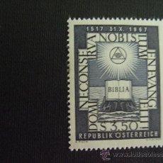 Sellos: AUSTRIA Nº YVERT 1083*** AÑO 1967. 450 ANIVERSARIO DE LA REFORMA.. Lote 114945234