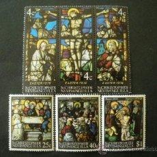 Timbres: SAN CRISTOBAL 1976 IVERT 328/33 *** LA PASCUA - VIDRIERAS RELIGIOSAS. Lote 37319498