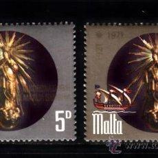 Sellos: MALTA 429/30** - AÑO 1971 - 15º ANIVERSARIO DE LA CORONACION DE LA VIRGEN DE LA VICTORIA. Lote 121264864