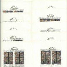 Sellos: CHESCOLOVAQUIA LOTE DE 10 HOJAS BLOQUE TEMA RELIGION (MAX SVABINSKY ). ). Lote 42324566