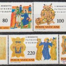 Sellos: VATICANO IVERT 689/93, 15 CENTENARIO DE SAN BENITO, PATRON DE EUROPA, NUEVO ***. Lote 98362968
