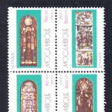 Sellos: MOZAMBIQUE 1213/16** - AÑO 1992 - ARTE RELIGIOSO - VIDRIERAS . Lote 45432787