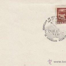 Sellos: BRASIL, III CONGRESO VICENTINO, SOCIEDAD DE SAN VICENTE DE PAUL, MATASELLO DE 8-9-1955. Lote 46296490