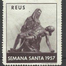 Sellos: SEMANA SANTA 1957 REUS TARRAGONA NUEVO(*). Lote 47744846