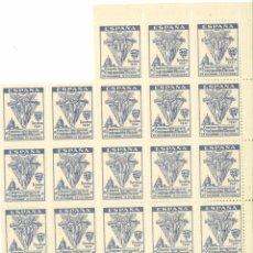 Sellos: HOJITA BLOQUE (FALTAN 2) CONGRESO INTERNACIONAL CONGREGACIONES MARIANAS BARCELONA 1947. Lote 49682507
