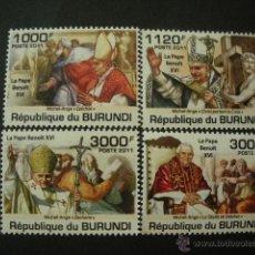 Sellos: BURUNDI 2011 SC 936/39*** PAPA BENEDICTO XVI - RELIGION. Lote 50778458