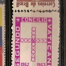 Sellos: BRASIL * & II CONCILIO ECUMÉNICO DO VATICANO 1963 (730). Lote 53577002