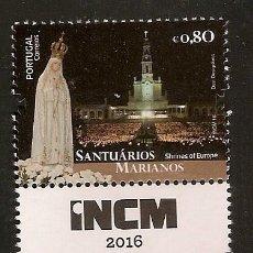 Sellos: PORTUGAL ** & SANTUARIOS MARIANOS DE EUROPA, FÁTIMA 2016 (PUB). Lote 58540964