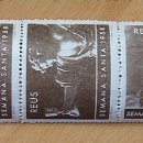 Sellos: CINCO SELLOS SEMANA SANTA REUS 1958. Lote 60576647