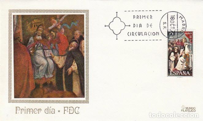 EDIFIL 2158, VI CENTENARIO DE LA ORDEN DE SAN JERONIMO, PRIMER DIA 18-10-1973 MUNDO FILATELICO (Sellos - Temáticas - Religión)