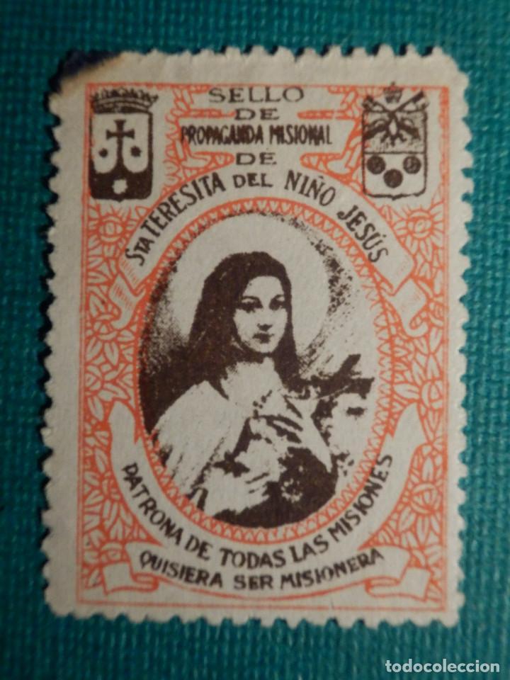 SELLO DE PROPAGANDA MISIONAL - STA. TERESITA DEL NIÑO JESÚS (Sellos - Temáticas - Religión)