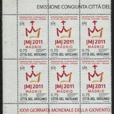 Sellos: VATICANO - DIA MUNDIAL DE LA JUVENTUD / MADRID 2011 **. Lote 81659440