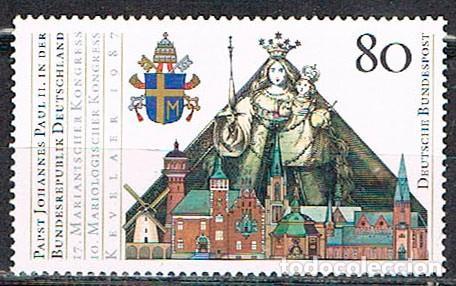 ALEMANIA IVERT Nº 1152, VISITA DEL PAPA JUAN PABLO II, 10º CONGRESO MARIANO, NUEVO *** (Sellos - Temáticas - Religión)