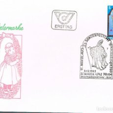 Sellos: AUSTRIA IVERT Nº 1590, SAN NICOLÁS, PRIMER DIA DE 6--12-1983. Lote 114469411