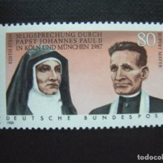 Sellos: ALEMANIA FEDERAL Nº YVERT 1184*** AÑO 1988. BEATIFICACION DE EDITH STEIN Y RUPERT MAYER. Lote 114591643