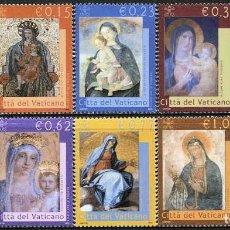 Sellos: VATICANO - LA VIRGEN MARIA / PINTURAS DE LA BASILICA S. PEDRO (2002) **. Lote 115410579