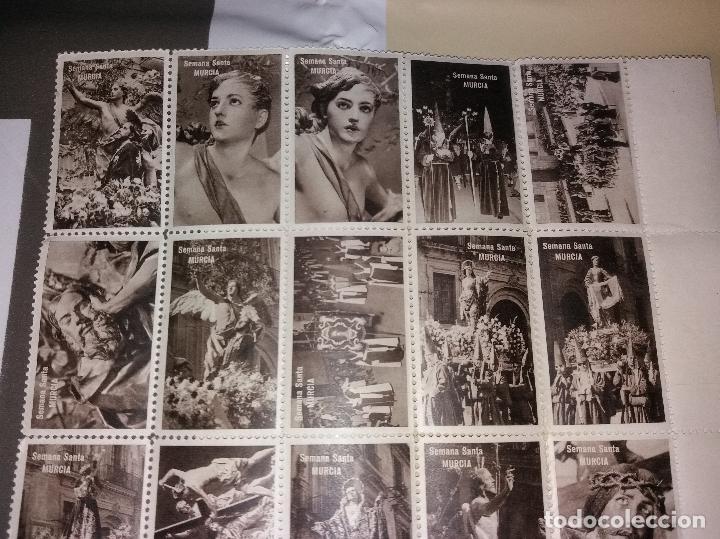 Sellos: Semana Santa Murcia. Lote de viñetas, imágenes (como sellos). 21 diferentes, años 50/60 - Foto 3 - 116733307