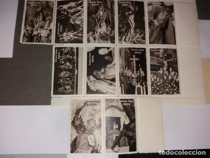 Sellos: Semana Santa Murcia. Lote de viñetas, imágenes (como sellos). 21 diferentes, años 50/60 - Foto 4 - 116733307
