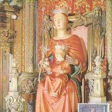 Sellos: EDIFIL 1523, 75 ANIVº CORONACION DE LA VIRGEN MERCED TARJETA MAXIMA PRIMER DIA ESPECIAL DE 24-9-196. Lote 119451143