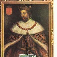 Sellos: EDIFIL 1522, JAIME I, 75 ANIVº CORONACION DE LA VIRGEN TARJETA MAXIMA PRIMER DIA ESPECIAL 24-9-196 . Lote 119451207