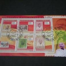 Timbres: MP/HB/SELLOS DE LA REPUBLICA DE GUINEA MATASELLADA. 2009. PERSONALIDADES. S/S. GANHDI. HISTORIA.. Lote 120736428